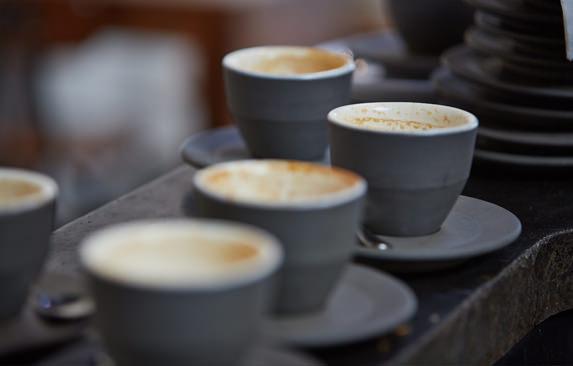Cups of espresso